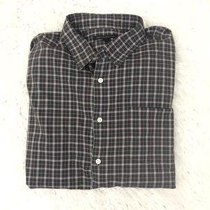 John Varvatos plaid button down shirt size XL